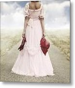 Woman On A Street Metal Print