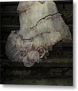 Woman On Steps Metal Print