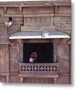 Woman On The Balcony Metal Print
