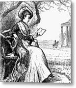 Woman Reading, 1876 Metal Print