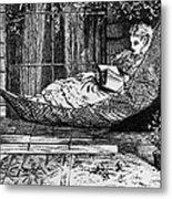 Woman Reading, C1873 Metal Print