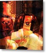 Woman Spirit At The Door  Metal Print by Fania Simon