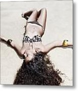 Woman Sunbathing Metal Print