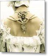 Woman With Bonnet Metal Print