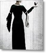 Woman With Butterfly Metal Print by Joana Kruse