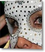 Woman With Mask Metal Print by Henrik Lehnerer