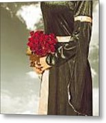 Woman With Roses Metal Print by Joana Kruse