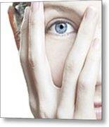 Woman's Eye Metal Print