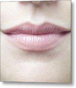 Woman's Mouth Metal Print by