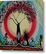 Women Under The Wisdom Tree Metal Print