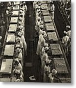Women Working In A Grapefruit Canning Metal Print