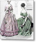 Womens Fashion, 1843 Metal Print