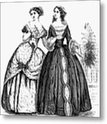 Womens Fashion, 1851 Metal Print