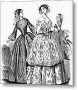 Womens Fashion, 1853 Metal Print