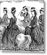 Womens Fashion, 1870 Metal Print