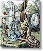Womens Fashion, 1877 Metal Print