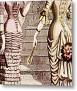 Womens Fashion, Circa 1880s Metal Print by Everett