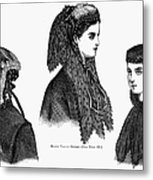Womens Hats, 1868 Metal Print