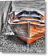 Wood Boat Metal Print