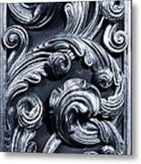 Wood Carving Patterns Metal Print
