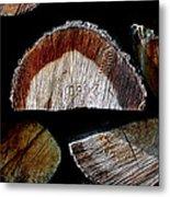 Wood. Piled Up Logs. Metal Print