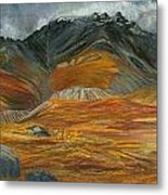 Wood  River Autumn Metal Print by Amy Reisland-Speer