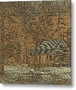 Woodcut Cabin Metal Print by Jim Finch