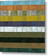 Wooden Abstract L Metal Print