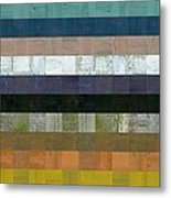 Wooden Abstract Lv Metal Print