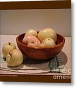 Wooden Bowl With Apples-i Metal Print