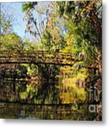 Wooden Bridge Over The Hillsborough River Metal Print
