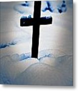 Wooden Cross Metal Print by Joana Kruse