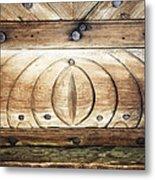 Wooden Doors Detail Metal Print