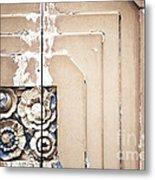 Wooden Flowers Metal Print