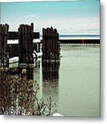 Wooden Pier Pilones  Metal Print