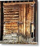 Wooden Slats Barn Metal Print