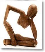 Wooden Statue Metal Print