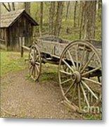 Wooden Wagon Metal Print