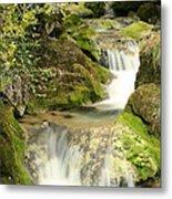Woodland Waterfall Metal Print by Victoria Hillman