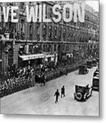 Woodrow Wilson In Paris Metal Print