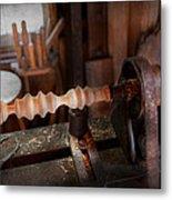Woodworker - Lathe - Rough Cut Metal Print
