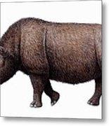 Woolly Rhinoceros, Artwork Metal Print