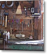 Work Bench And Tools Metal Print