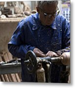 Working His Trade Metal Print