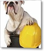 Working Like A Dog Metal Print