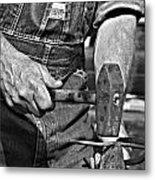 Working Man Metal Print