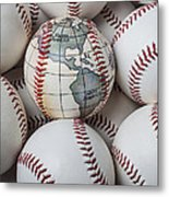 World Baseball Metal Print