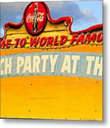 World Famous Party Metal Print