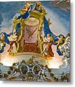 World Heritage Frescoes Of Wieskirche Church In Bavaria Metal Print