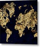 World Map Rock Metal Print